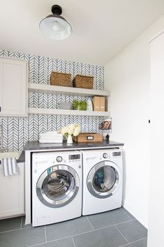 """Awesome """"laundry room storage diy budget"""" info is offered on our internet site. Check it out and you wont be sorry you did. Basement Laundry, Small Laundry Rooms, Laundry Room Organization, Laundry Room Design, Basement Walls, Gray Basement, Basement Ideas, Basement Kitchen, Basement Bathroom"""
