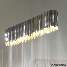 The amazing Facet Suspension Lozenge creates a centerpiece for any room. #menu #suspensionlight #led #tomkirk Available at metropolitandecor.com  http://www.metropolitandecor.com/Facet-Suspension-Lozenge-Innermost_p_2603.html