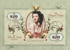 Retro style coupon design to be used in Direct Marketing campaigns for an online casino