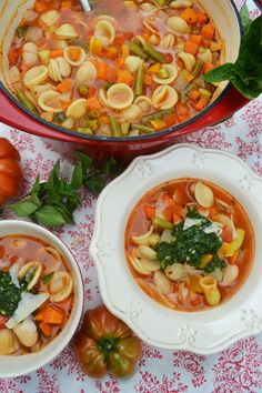 A bowl full of vegetables Soupe au pistou KochenBacken Suppen Eintöpfe Healthy Recipes For Diabetics, Healthy Meals For One, Healthy Recipe Videos, Healthy Crockpot Recipes, Pork Recipes, Healthy Dinner Recipes, Vegetarian Recipes, Detox Recipes, Healthy Snack Recipes