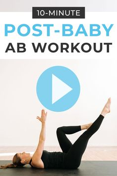 Get back into fitness after baby with this home workout: postpartum abs! Gym Workout Chart, Easy Ab Workout, Abs Workout Video, Easy Workouts, Weekly Workouts, Workout Plans, After Baby Workout, Post Pregnancy Workout, Workout Postpartum