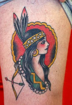 Another flawless indian tattoo by Dan Gilsdorf!