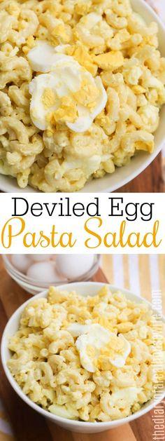 Deviled Egg Pasta Salad Recipe, Deviled Egg Potato Salad, Best Egg Salad Recipe, Potato Pasta, Easy Salad Recipes, Deviled Eggs, Side Dish Recipes, Pasta Recipes, Cooking Recipes