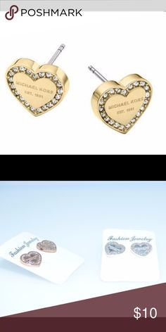 Fashion MK Earring Studs Product Name: MK earrings  Material: Alloy  Weight: 4g  Color: rose gold color gold steel Jewelry Earrings