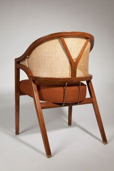 """Pair of Fine + Early Edward Wormley for Dunbar """"Y"""" Back Captains Chairs 