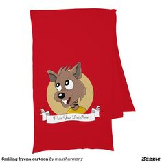 Smiling hyena cartoon scarves