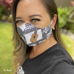 Polynesian tapa print mask created by Rachel: Mahalo for sharing the photo!