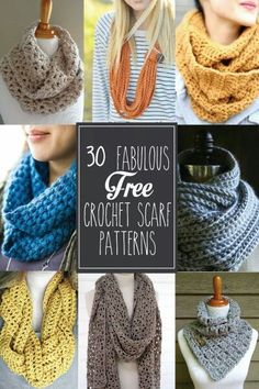 Crocheted Scarf Patterns