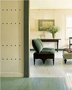 Palette & Paints: Painted Floor Transition Remodelista