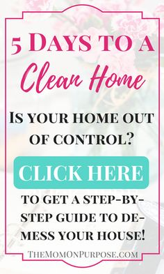 Is your home out of control? Take this FREE 5 day course to de-mess your home once and for all!