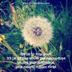 It's OK to slow down. It's OK to take slower and smaller steps. Your natural rhythm rocks. #introvert #solopreneur