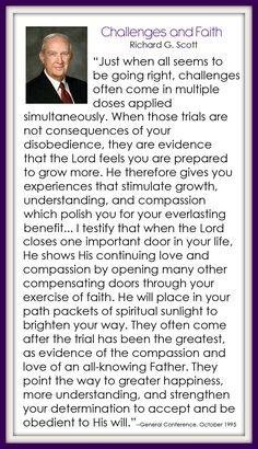 Challenges and Faith - Richard G. Scott