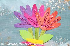 Handprint Flower Bouquet - Kid Craft