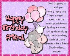 Lovely card for a very dear friend. Free online Wishes For A Dear Friends Birthday ecards on Birthday Happy Birthday Penguin, Birthday Hug, Cute Happy Birthday, Birthday Cheers, Birthday Wishes Funny, Birthday Songs, Special Birthday, Friend Birthday, Birthday Sparklers