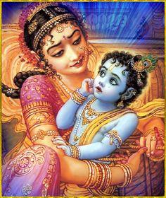 ♥ DAMODARA KRISHNA ♥ Artist: Jadurani Devihttp://www.bhaktiart.net/