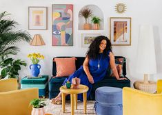 Justina Just Launched Her VERY GOOD Target X Jungalow Line (And These Are Our Favorites:)) - Emily Henderson Frames On Wall, Framed Wall Art, Floor Lamp With Shelves, Multifunctional Furniture, Teal And Gold, Saturated Color, Wall Art Sets, Abstract Pattern