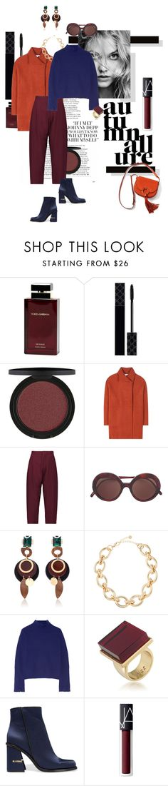 """""""autumn allure"""" by mathilda-moo ❤ liked on Polyvore featuring Dolce&Gabbana, Gucci, Diane Von Furstenberg, Marni, Lydell NYC, Proenza Schouler, Trina Turk, TIBI, NARS Cosmetics and Tory Burch"""