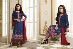 Debonair Full Sleeves Ceremonial Suit with Exquisite Thread Embroidery and Stone Work