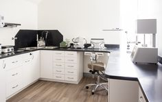Ceramist's lab within a dental office.