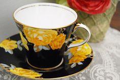 A beautiful 1920s Aynsley tea cup and saucer - LOVE tea, tea cups, saucers, tea pots, tea parties...