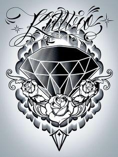 Resultado de imagen para roses and diamond tattoo