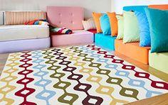 Contemporary Bubble Stripe 1082 Multi Colored Area Rug Co...$170