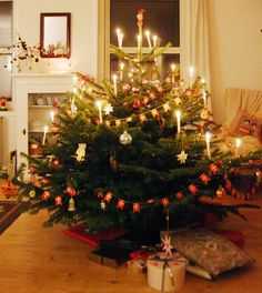 I love Christmas in Denmark! The candles on the tree would be lit after a goose dinner, and we would circle around the tree singing Christmas carols, open presents, then have coffee and dessert. A perfect Christmas Eve.