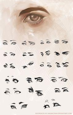 Eye drawing reference angles 21 New ideas Drawing Techniques, Drawing Tips, Drawing Reference, Drawing Sketches, Art Drawings, Sketching, Sakimichan Tutorial, Sakimichan Art, Illusion Kunst