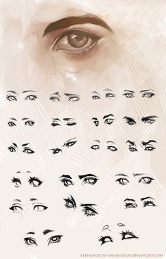How to draw different eye expressions