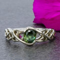 Deep sage #MontanaSapphire, Absolutely love this ring!!! Especially with stone set horizontally!!