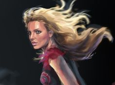 Hold It Against Me / Desconhecido  #Art #Britney #BritneySpears #Drawing #Illustration #Music #Painting