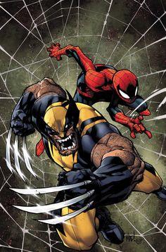 Wolverine and Spider-Man by Joe Madureira