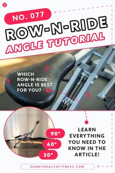 Did you know you can change the seat angle on your NO. 077 Row-N-Ride Machine? That's right! The Row-N-Ride comes equipped with 3 different squat angles to accommodate different users' needs. In this article, I'll break down how to change your Row-N-Ride machine seat angle. Learn about which angle you should use for your workout for best results. #sunnyhealthfitness #rownride #rownrideworkout #rownrideresults #rownridetrainer Fitness Equipment, No Equipment Workout, Health And Fitness Articles, Health Fitness, Lower Body Muscles, Deep Squat, Workout Results, Glutes