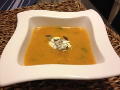 Pumpkin soup with thyme