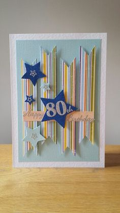 Stars and stripes 80th birthday card