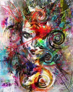 "Saatchi Online Artist: yossi kotler; Acrylic 2013 Painting ""nothing to hide"""