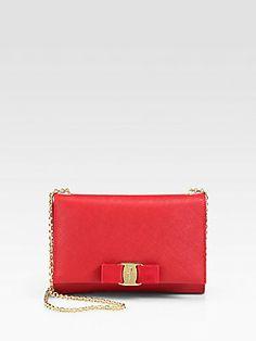 I WANT!!! Salvatore Ferragamo Miss Vara Mini Bow Bag