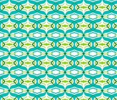 Ikat in green and blue fabric by tukkki on Spoonflower - custom fabric