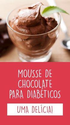 Esta receita de mousse de chocolate e abacate, além de ser fácil de fazer, é uma ótima opção de sobremesa para diabéticos, pois não tem açúcar nem gorduras saturadas.                                                                                                                                                                                 Mais