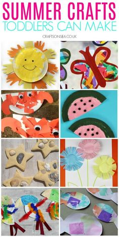 Easy and fun summer crafts for toddlers toddlers summercrafts kidscrafts 116038127886224070 Summer Crafts For Toddlers, Easy Crafts For Kids, Toddler Crafts, Art For Kids, Kids Fun, Art And Craft Videos, Easy Arts And Crafts, Craft Activities, Preschool Crafts