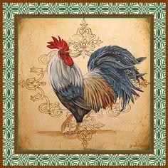 I uploaded new artwork to fineartamerica.com! - 'Renaissance Rooster-c-green' - http://fineartamerica.com/featured/renaissance-rooster-c-green-jean-plout.html via @fineartamerica