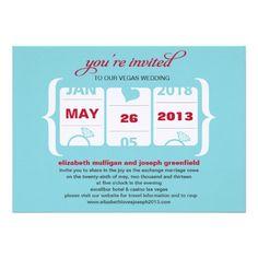 Slot Machine Wedding Invitation