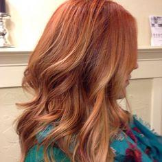 Light red / auburn / ginger hair colour #long #wavy #hair