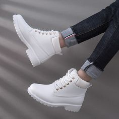 e41a04e67b4 2018 Spring Women Boots PU Leather Women Shoes Lace-up Ankle Boots for Lady  Girl