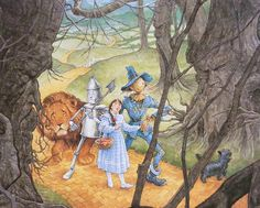 wizard of oz ilustrated | The Wizard of Oz, illustrated by P.J. Lynch