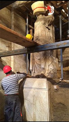 Archaeologists have found an underground vault within the mysterious Amphipolis tomb in Serres, Greece, which may hold the remains of one of Alexander the Great's relatives. Greek History, Roman History, Ancient History, Ancient Greece, Ancient Egypt, Macedonia Map, Greek Art, In Ancient Times, Ancient Romans
