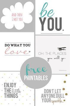 Home Coming: Inspirational Free Printables - 10 inspirational prints Printable Planner, Planner Stickers, Printable Wall Art, Free Printables, Hello Printable, Free Printable Quotes, Printable Designs, Project Life, Print Image