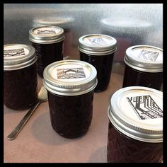 Six pack Mulberry Jam 6 half-pint jars home by MulberryJamAndTea