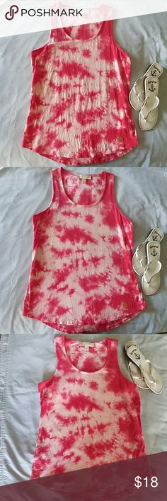 Michael Kors Tank Top Michael Kors Tie Dye Red and White Tank Top -100 % Cotton. Great Casual Top MICHAEL Michael Kors Tops Tank Tops