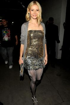 Who made Gwyneth Paltrow's gold sequin dress that she wore to the 2009 Grammy's?